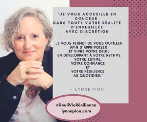 Premier pas avec Lynne Pion #DeuilVieRésilience
